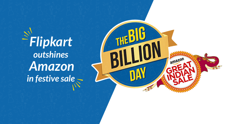Flipkart Sells More Than Amazon in Festive Sale –Indian Ecommerce Sees Another Twist
