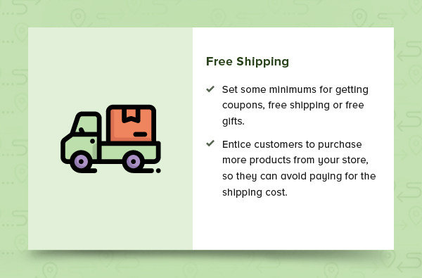Free shipping or free gifts