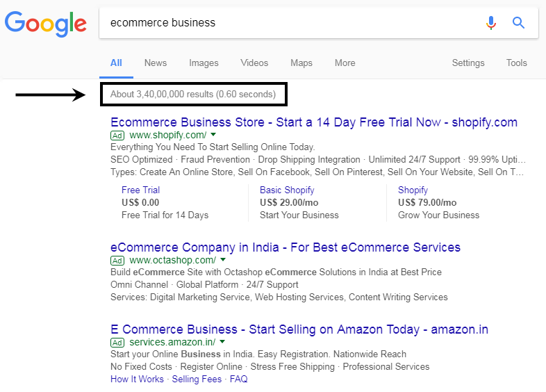Ecommerce Business Search