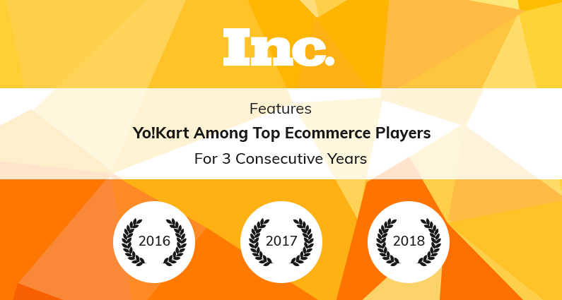 Inc Lists YoKart among Top Ecommerce Platforms, 3 Years in a Row