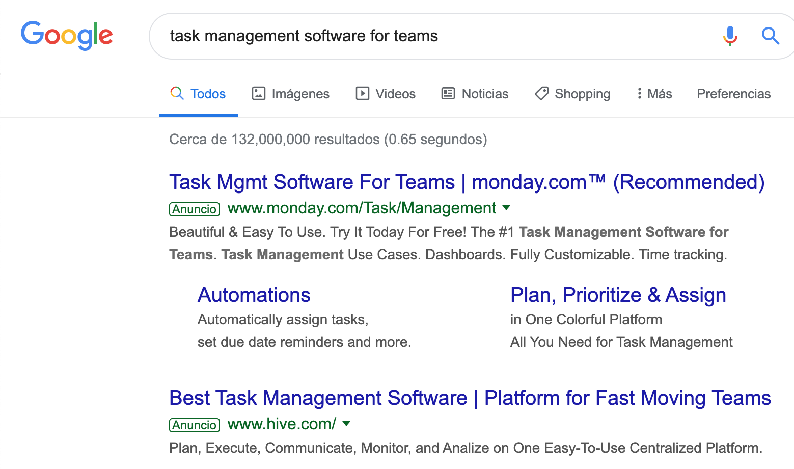 Google ad headline