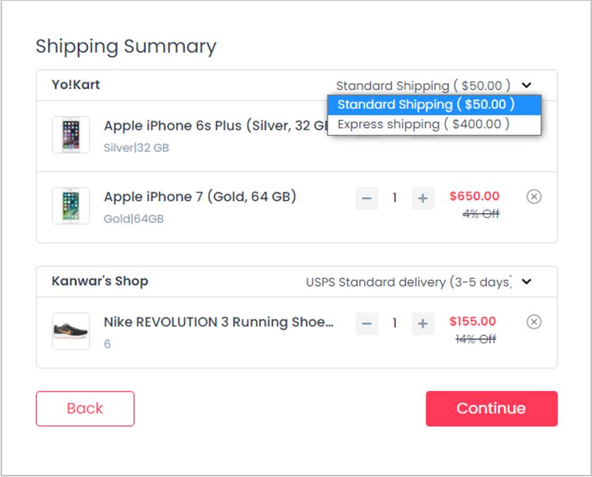 Yokart-shipping-summary