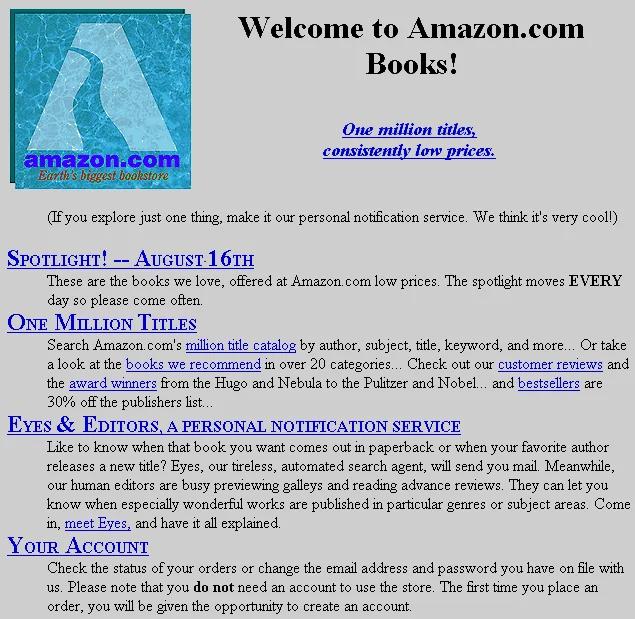 Amazon.com Evolution