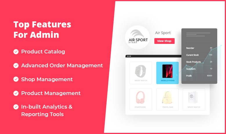 Furniture Marketplace features for Admin