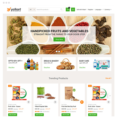 Launch Grocery eCommerce Marketplace