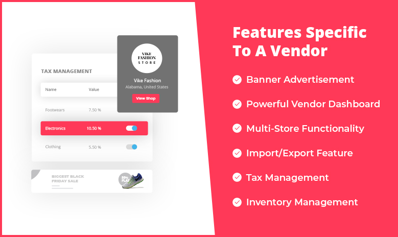 Furniture Marketplace features for vendors